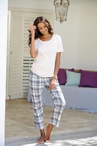 7/8 ilgio pižaminės kelnės »Lou« su pi...