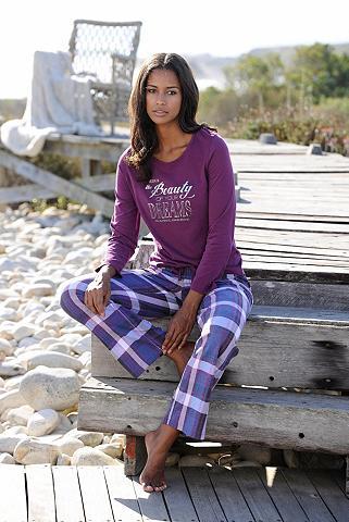 Klasikinio stiliaus pižama su languota...
