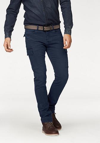 Kareiviško stiliaus džinsai
