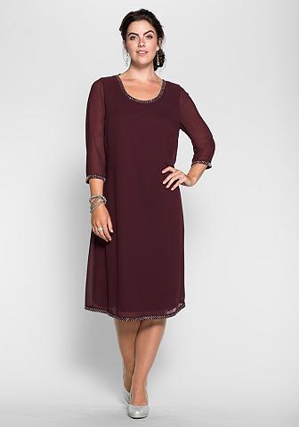 Šifoninė suknelė su perlai