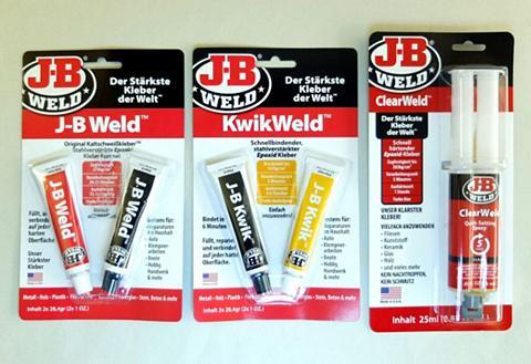 JB Weld Kleber-Set 3 dalių