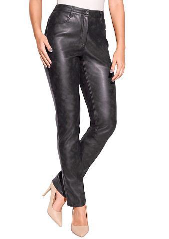 Création L Dirbtinės odos kelnės su sp...