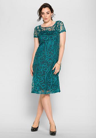 Nėriniuota suknelė su trumpas rankovės...
