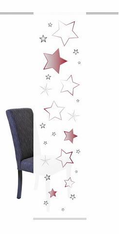 HOME WOHNIDEEN Schiebegardine »STARS« Klettband (1 vi...