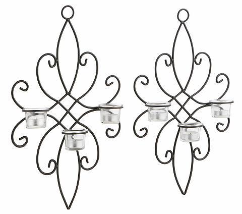 HOME AFFAIRE Sieninė žvakidė (2 vnt. rinkinys) su s...