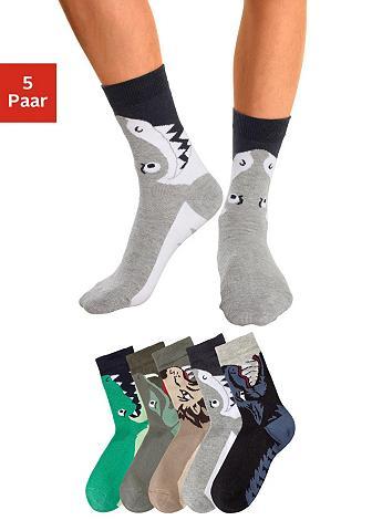 Socken (5-Paar) su Tiermotiven
