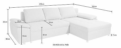 SIT&MORE Sit&more Kampinė sofa »Labene«