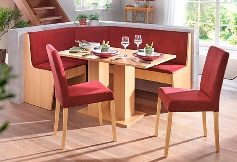 Kampinis virtuvės suolas su kėdėmis (4...
