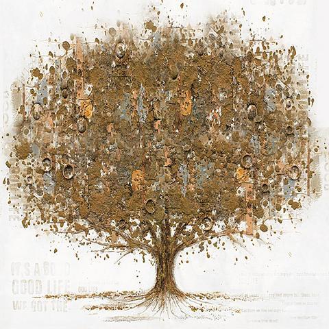 Rankų darbo paveikslas Ölgemälde »Tree...