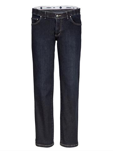 Unterbauch-Jeans su verkürzter Leibhöh...