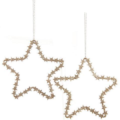 Sternanhänger su Glitter (5 vnt.)