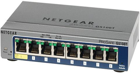 šakotuvas »GS108T 8-Port GB elegantišk...