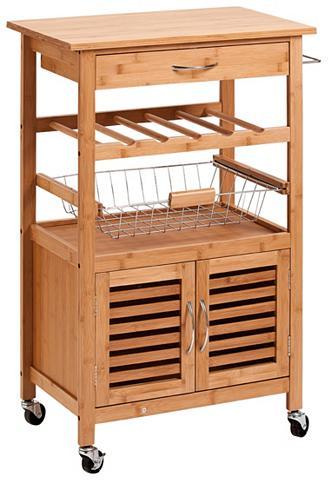 ZELLER Virtuvinis vežimėlis »Bamboo« 60x36x88...