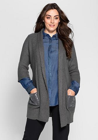 Ilgas megztinis su apykaklė