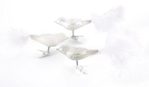 INGE-GLAS ® Dekoracija 6 vnt. »Magic - Just Whit...