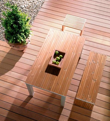 Holz-Terrassendielen »Bangkirai« 1221 ...