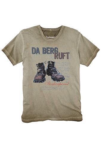 Marškinėliai Herren su auffälligem raš...