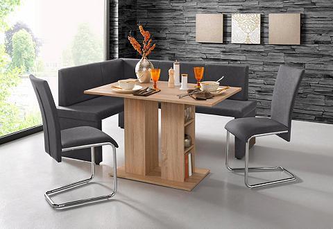STEINHOFF Kampinis virtuvės suolas su kėdėmis (4...
