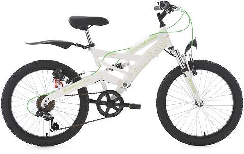 KS CYCLING Jaunimo dviratis 20 Zoll weiß-grün Shi...