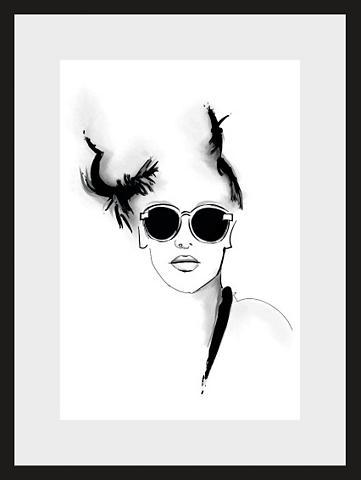 HOME AFFAIRE Paveikslas »Skizze Sunglasses« Gesicht...