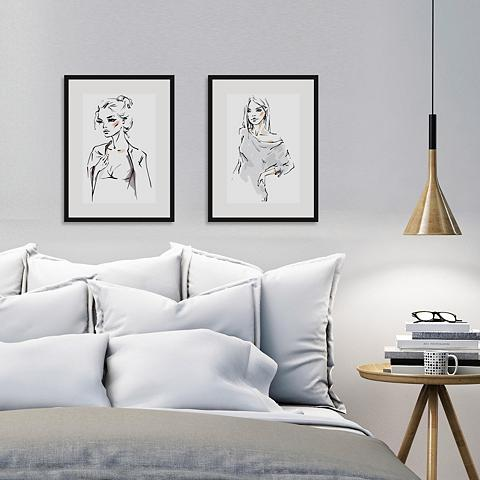 Home affaire Paveikslas »Skizze Young Girl« 2x 30/4...