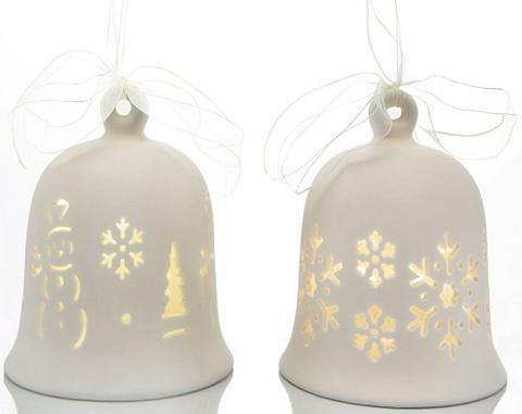 Porcelianinis varpas su LED 2 vnt. rin...