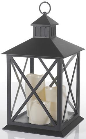 Žibintas ir 3 LED žvakės (4 dalių)