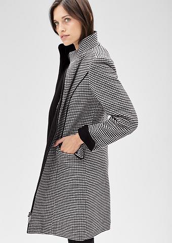 Vilnonis paltas su Hahnentritt-Muster