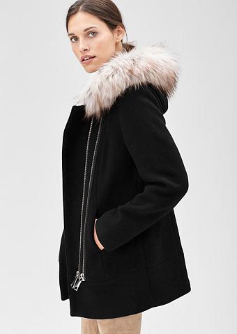 Vilnonis paltas su Fake dėl