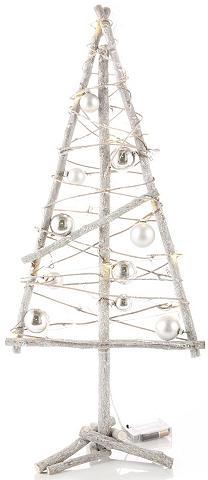 Dekoratyvinė medinė eglutė su LED girl...