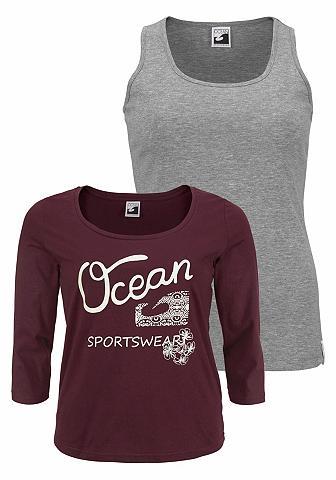 OCEAN SPORTSWEAR Du viename marškinėliai (Rinkinys 2 da...