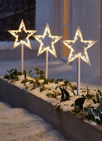 Žvaigždė LED-Gartenstecker 3 vnt.