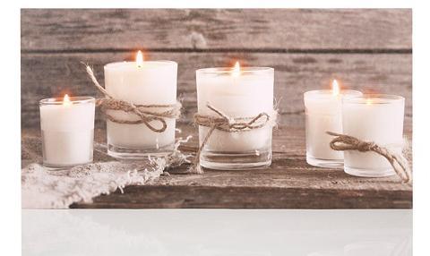 DREAMS LED paveikslas »Candle«