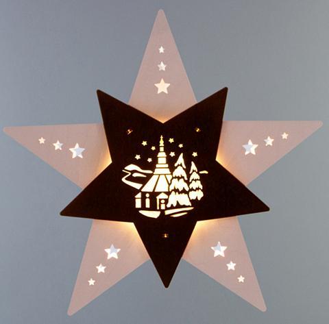 WEIGLA ® Lango dekoracija LED »Seiffener Kirc...