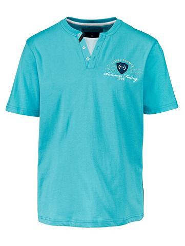 Marškinėliai su Henley-Ausschnitt
