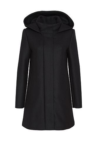 Vilnonis paltas su gobtuvas ir Rückenf...