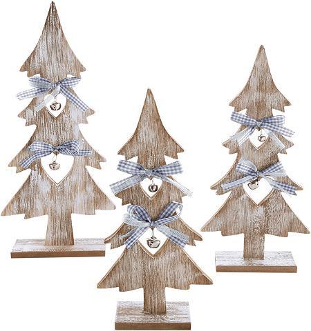 Dekoratyvinė medinė eglutė 3 dalių