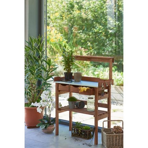 Stalas augalams su 3 Schubfächer