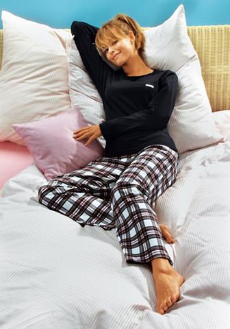 VIVANCE DREAMS Pižama su languotas flanelinės kelnės