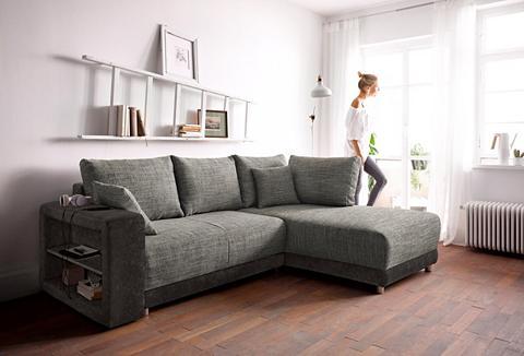 Kampinė sofa su miegojimo funkcija
