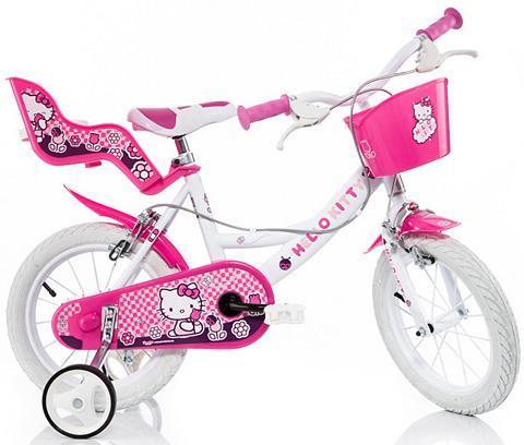 HELLO KITTY Vaikiškas dviratis su Lenkerkorb + Pup...