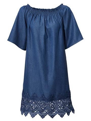 Džinsinė suknelė su ispaniško stiliaus...