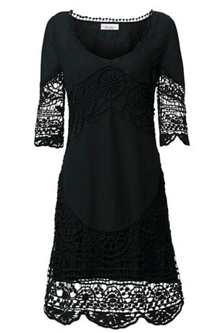 Nėriniuota suknelė su 3/4 rankovės