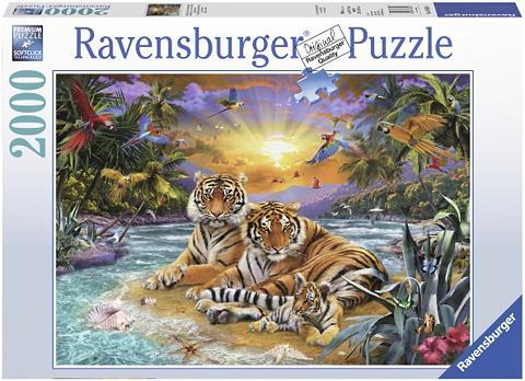Dėlionė su 2000 Teilen »Tigerfamilie i...