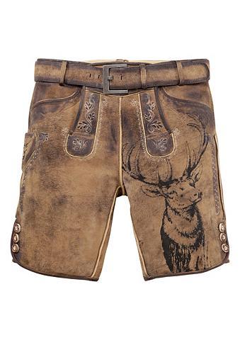 Odinės tautinio stiliaus kelnės trumpa...