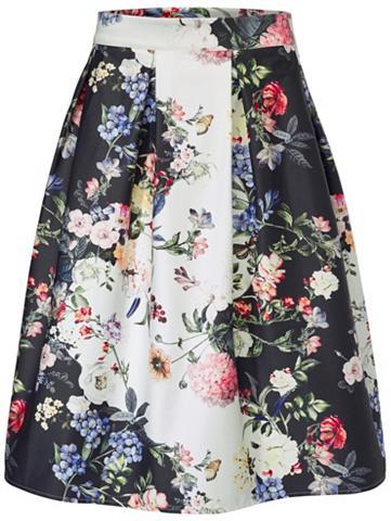 Raštuotas sijonas gėlės