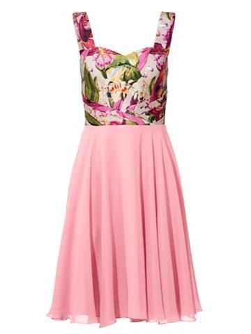 Kokteilinė suknelė marginta gėlėmis