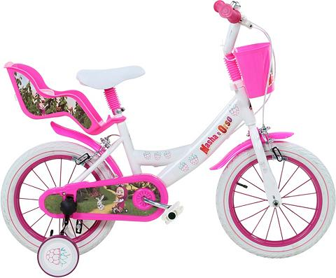 MASHA AND THE BEAR Vaikiškas dviratis Mädchen 16 Zoll U-B...