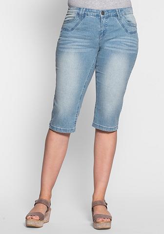 Siauras Stretch-Jeans-Capri