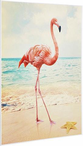 Deco Panel »Flamingo« 60/90 cm